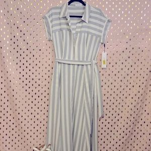 Calvin Klein front button maxi dress
